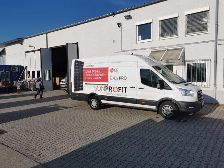SunProfit Transporter vor Betrieb