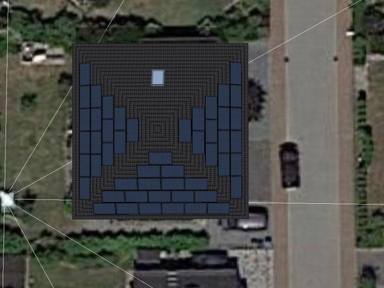 großes Haus mit Solaranlagen